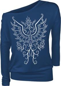 Niebieska bluzka Emp z długim rękawem