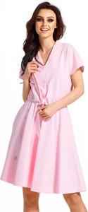 Sukienka Inna rozkloszowana z dresówki mini
