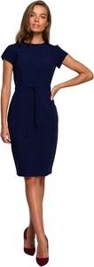 Sukienka Style z krótkim rękawem z okrągłym dekoltem ołówkowa