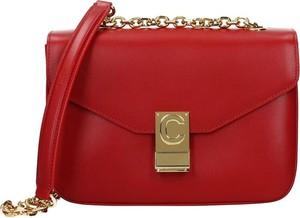 Czerwona torebka Céline na ramię ze skóry