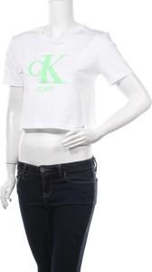 T-shirt Calvin Klein z krótkim rękawem z okrągłym dekoltem