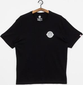 Czarny t-shirt Element z krótkim rękawem