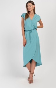 Sukienka Cotton Club z krótkim rękawem z dekoltem w kształcie litery v
