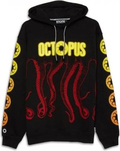 Czarna bluza Octopus w młodzieżowym stylu z bawełny