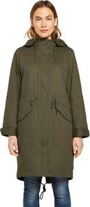 Zielony płaszcz Tom Tailor