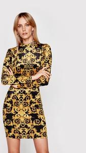 Sukienka Versace Jeans mini z okrągłym dekoltem