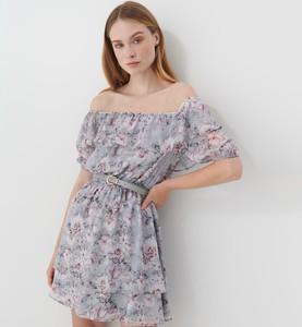 Sukienka Mohito mini hiszpanka trapezowa