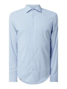 Niebieska koszula Seidensticker z długim rękawem z klasycznym kołnierzykiem