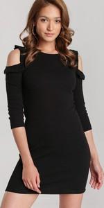 Sukienka Renee z okrągłym dekoltem w stylu casual z długim rękawem