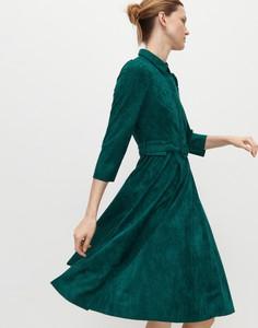 Sukienka Reserved z długim rękawem z kołnierzykiem szmizjerka