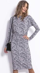 Sukienka Fobya w stylu casual z długim rękawem z bawełny