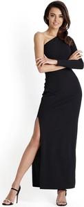 Czarna sukienka Ivon bez rękawów maxi