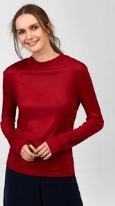 Czerwona bluzka ORSAY z okrągłym dekoltem w stylu casual z długim rękawem