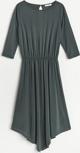 Sukienka Reserved z długim rękawem mini z okrągłym dekoltem