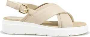 Sandały Geox w stylu casual z klamrami ze skóry