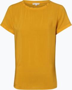 Żółta bluzka Marie Lund z krótkim rękawem w stylu casual z okrągłym dekoltem