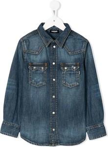 Granatowa koszula dziecięca Diesel z jeansu dla chłopców