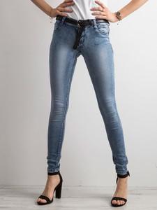Niebieskie jeansy Sheandher.pl z jeansu