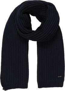 Czarny szal męski Drykorn w stylu casual z dzianiny