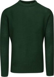 Zielony sweter Brave Soul z tkaniny z okrągłym dekoltem w stylu casual