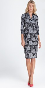 Sukienka Colett z dekoltem w kształcie litery v midi