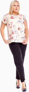 Bluzka Fokus z krótkim rękawem z okrągłym dekoltem