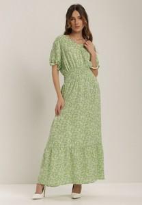Sukienka Renee z krótkim rękawem z dekoltem w kształcie litery v maxi