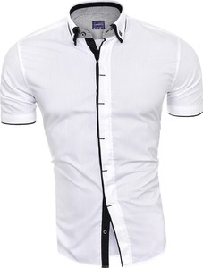 Koszula Risardi w stylu casual z krótkim rękawem z kołnierzykiem button down