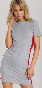 Sukienka Renee z okrągłym dekoltem prosta mini