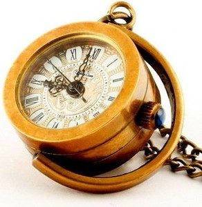 Drobiny Czasu DROBINA KSIĘŻYCOWA zegarek wisiorek na łańcuszku