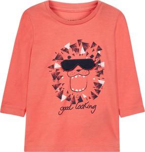 Różowa koszulka dziecięca Name it z bawełny