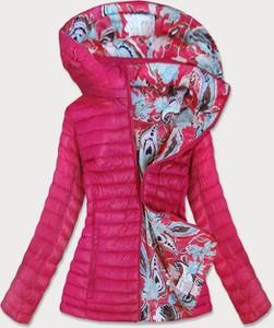 Różowa kurtka Goodlookin.pl krótka w stylu casual