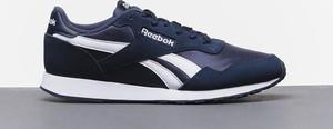 Niebieskie buty sportowe Reebok sznurowane z zamszu