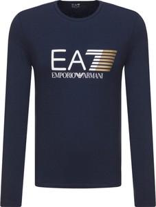 T-shirt Emporio Armani z długim rękawem z dzianiny