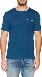 Niebieski t-shirt CELIO z krótkim rękawem