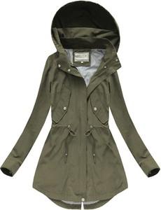 a378cabf167c Zielona kurtka Speed.A z bawełny w militarnym stylu długa