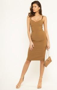 Sukienka Elisabetta Franchi w stylu casual na ramiączkach midi
