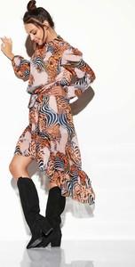 Sukienka Lemoniade z jedwabiu z długim rękawem midi