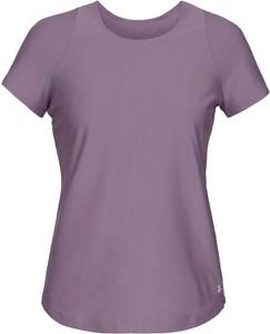 Fioletowy t-shirt Under Armour z tkaniny