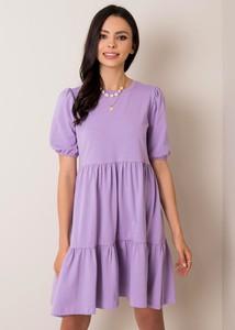 Sukienka Factory Price z okrągłym dekoltem w stylu casual z bawełny