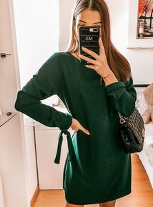 Sukienka Pakuten trapezowa w stylu casual z długim rękawem