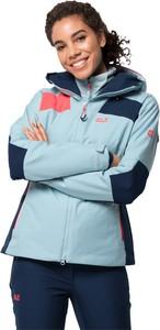 Niebieska kurtka Jack Wolfskin w sportowym stylu krótka