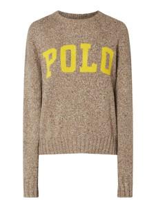 Brązowy sweter POLO RALPH LAUREN z bawełny