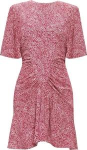Różowa sukienka Isabel Marant Étoile z krótkim rękawem w stylu casual