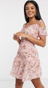 Sukienka Pretty Darling z krótkim rękawem mini