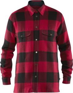 Czerwona koszula Fjällräven z wełny z długim rękawem