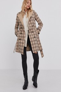 Brązowy płaszcz Answear Lab w stylu casual