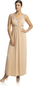 Sukienka Fokus z dzianiny w stylu glamour z dekoltem w kształcie litery v