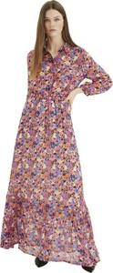 Sukienka InWear z dekoltem w kształcie litery v koszulowa maxi