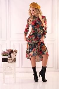 Sukienka MERRIBEL w stylu casual asymetryczna z długim rękawem